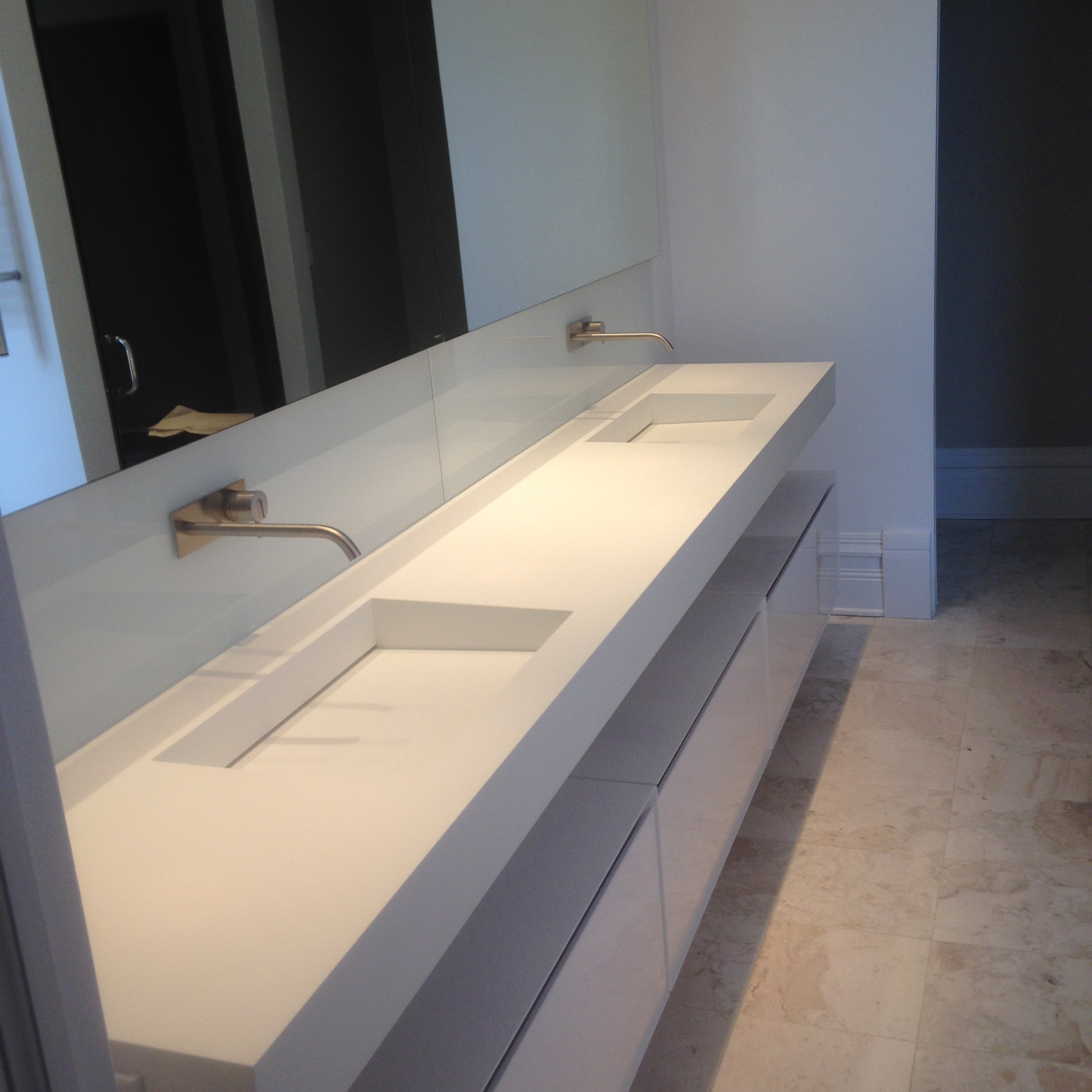 Vanity Tile Top : Custom fabrication kitchen and vanity tops titan